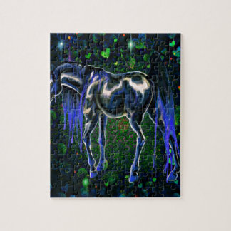 Blue Love Horse Jigsaw Puzzle