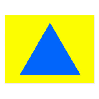Blue Lt Triangle Trans The MUSEUM Zazzle Gifts Postcard