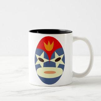 Blue Lucha Libre Mask Two-Tone Coffee Mug
