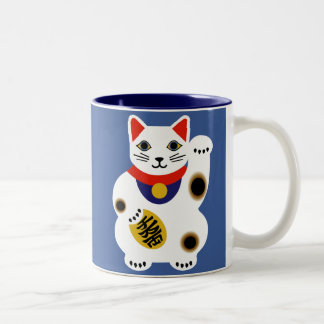 Blue Lucky Cat Mug