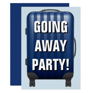Blue Luggage | Farewell | Going Away Party Invite