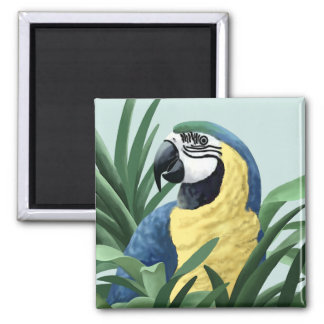 Blue Macaw Magnets