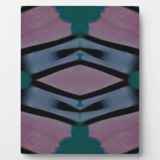Blue Magenta Artistic Modern Pattern Plaques