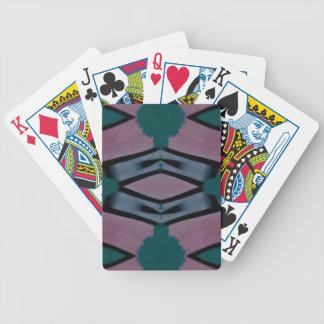 Blue Magenta Artistic Modern Pattern Poker Deck
