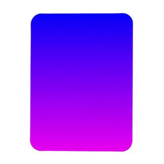 Blue Magenta Gradient Rectangular Photo Magnet