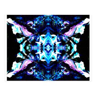 Blue Magic Purple Blue Turquoise Pretty Design Postcard