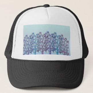 Blue magical landscape trucker hat