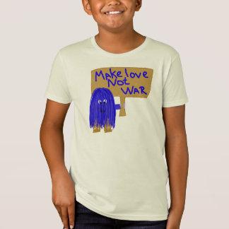 Blue make love not war T-Shirt