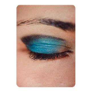 Blue make-up 13 cm x 18 cm invitation card