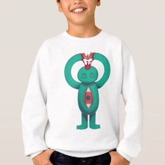 Blue man flame king sweatshirt