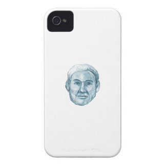 Blue Man Identikit Drawing iPhone 4 Cases