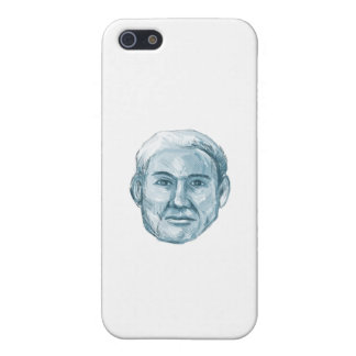 Blue Man Identikit Drawing iPhone 5 Cases