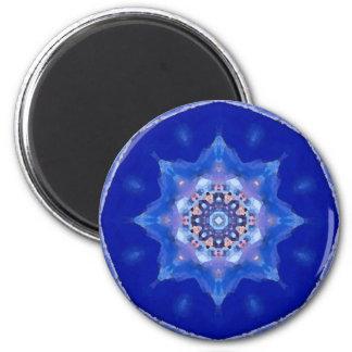 Blue Mandala 6 Cm Round Magnet