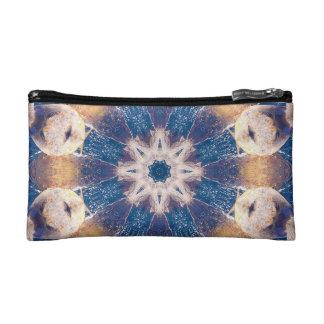 blue mandala cosmetic bag