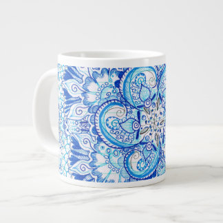 blue mandala design mug