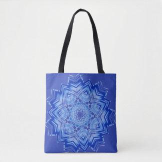 Blue Mandala Design on Tote Bag