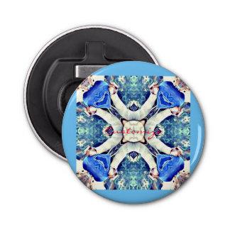 Blue mandala hearts pattern Thunder_Cove Bottle Opener