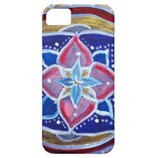 Blue Mandala iPhone SE + iPhone 5/5S, Barely There Case For The iPhone 5