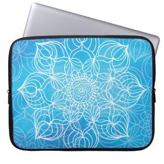 Blue Mandala Laptop Computer Sleeves