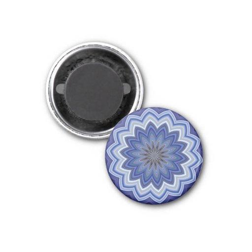 Blue Mandala Fridge Magnets