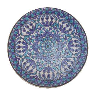 Blue Mandala Poker Chip Poker Chips