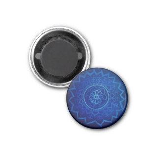 Blue mandala Small, 3.2 Cm Round Magnet