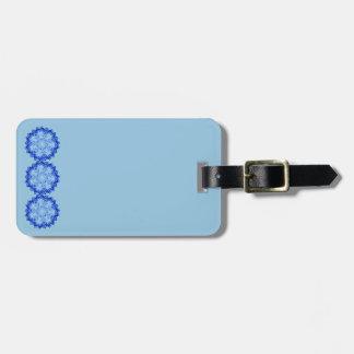 Blue Mandalas Design on Luggage Tag