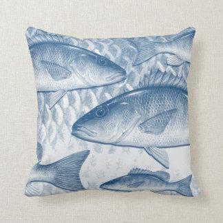 Blue Mangrove Snapper (Gray Snapper) Throw Pillow