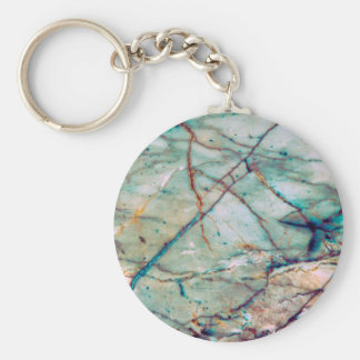 Blue marble key ring