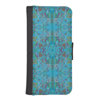Blue Marble Painting Pattern iPhone SE/5/5s Wallet Case