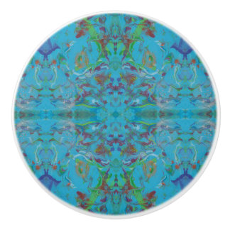 Blue Marble Painting Pattern Knobs