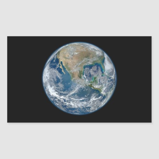Blue Marble Planet Earth North America Mexico Rectangle Sticker