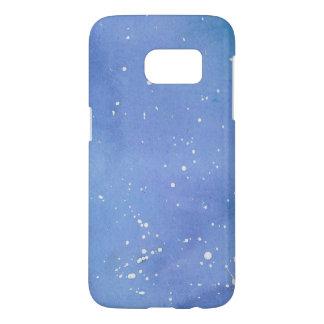 Blue Marble Watercolour Splat