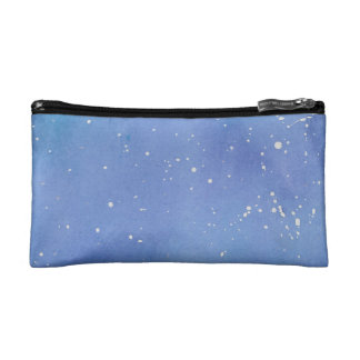 Blue Marble Watercolour Splat Cosmetic Bag