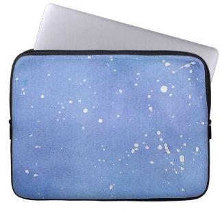 Blue Marble Watercolour Splat Laptop Sleeve
