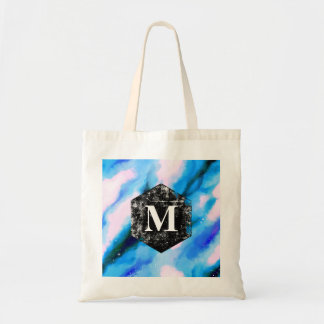 Blue Marbled Outer Space Abstract Monogram