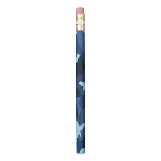 Blue marine army camo camouflage pattern pencil