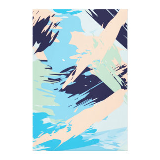 Blue Maritime Nautical Abstract Art Canvas Print
