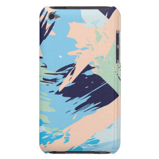 Blue Maritime Nautical Brushstroke Pattern Barely There iPod Cover