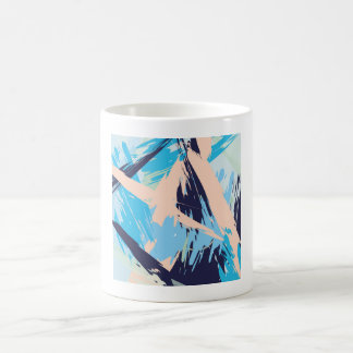 Blue Maritime Nautical Brushstroke Pattern Coffee Mug