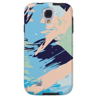 Blue Maritime Nautical Brushstroke Pattern Galaxy S4 Case