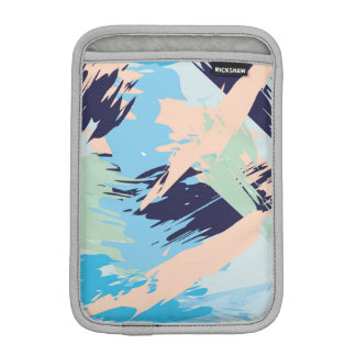 Blue Maritime Nautical Brushstroke Pattern iPad Mini Sleeve
