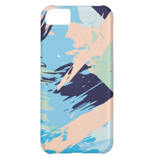 Blue Maritime Nautical Brushstroke Pattern iPhone 5C Case