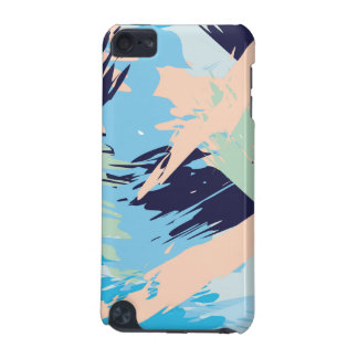 Blue Maritime Nautical Brushstroke Pattern iPod Touch (5th Generation) Cover