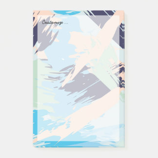 Blue Maritime Nautical Brushstroke Pattern Post-it Notes