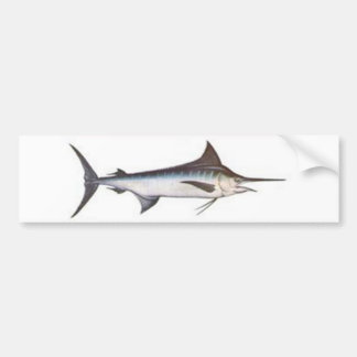 Blue Marlin Bumper Sticker