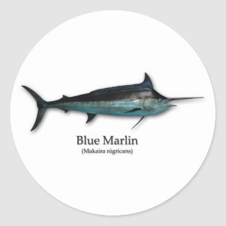 Blue Marlin Classic Round Sticker