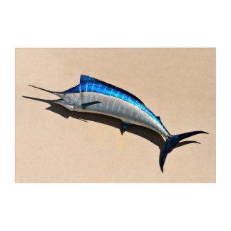 Blue Marlin Fish Mount Acrylic Wall Art