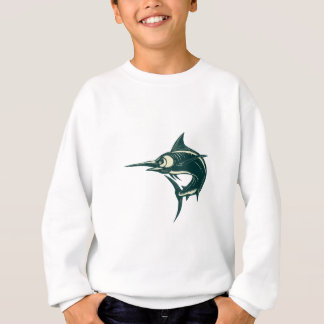 Blue Marlin Jump Scratchboard Sweatshirt