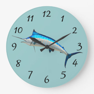 Blue Marlin Large Clock